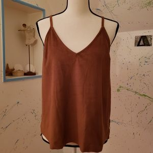 Suede Like Tank - Size Small